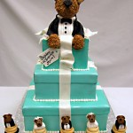 Tiffany's and puppies! Yes, it's cake!