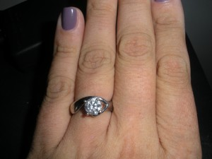 The ring, about a month later, when I figured out how to take a picture of it!