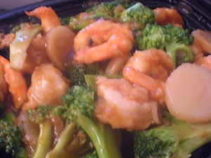 Shrimp and broccoli!